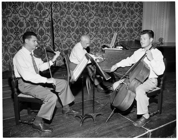 Scripps College Chamber Music Players during Silver Anniversary, 1952