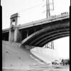 Suicide off 1st street bridge, 1957.
