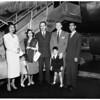Princess Shams Pahlevi arrives, 1952