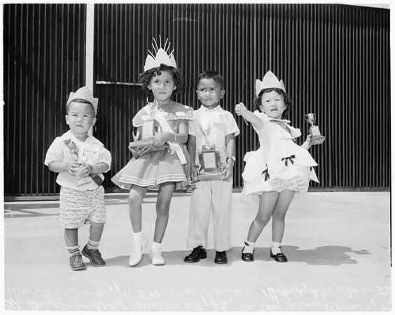 Adopted war orphans beauty contest, 1958