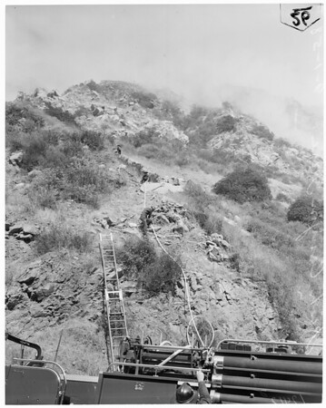 Fish Canyon brush fire, 1958