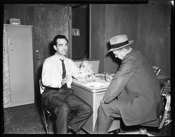 Chris Skoby robbery kidnapped, 1957