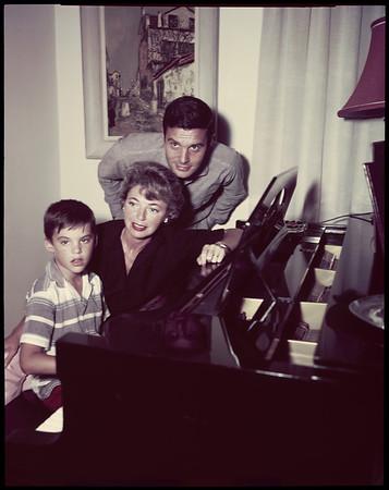 Louis Jourdan and family, 1958