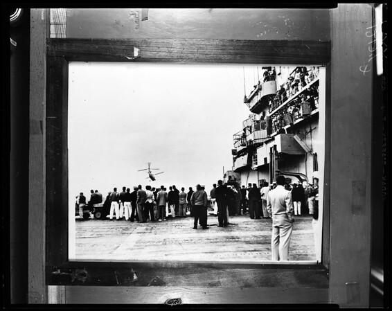 USS Princeton (flattop) (copy neg), 1957