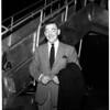 Clark Gable (arrival), 1954