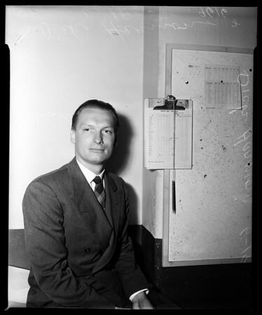 Dick Harmon (Examiner employee) I.D. Pix, 1952