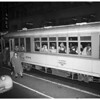 Street cars during street car fare increase, 1952