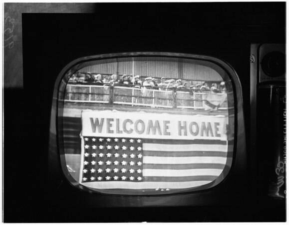 First Marine division homecoming in San Diego, 1951