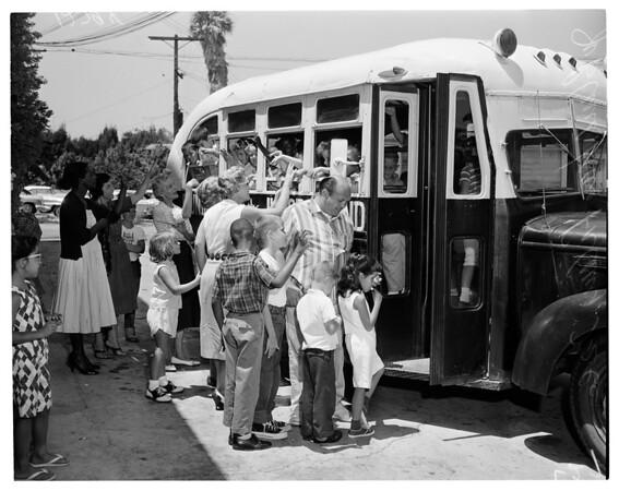 Junior blind off for camp, 1960