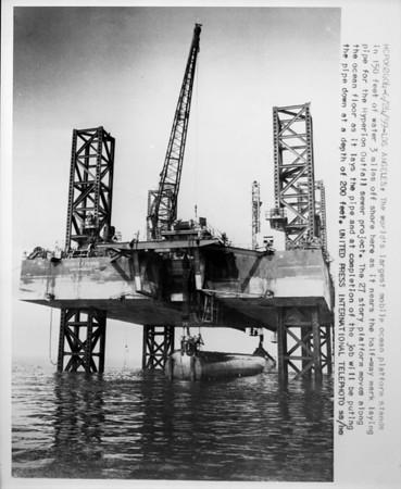 World's largest mobile offshore platform, Los Angeles, 1958