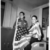 Boy Scouts flag selling, 1961