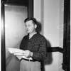 Arraignment on grand theft and forgery, 1957