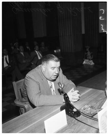Siren hearing, 1958