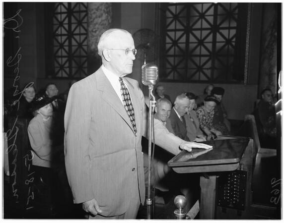 Alcoholic farm hearing, 1951