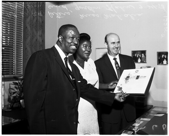 Gospel singer proclamation, 1958