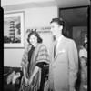 Daughter of Phillipine President arrives, 1952