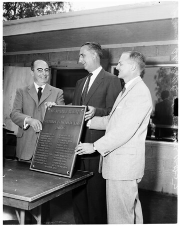 Veterans Administration recreation building dedication, 1957