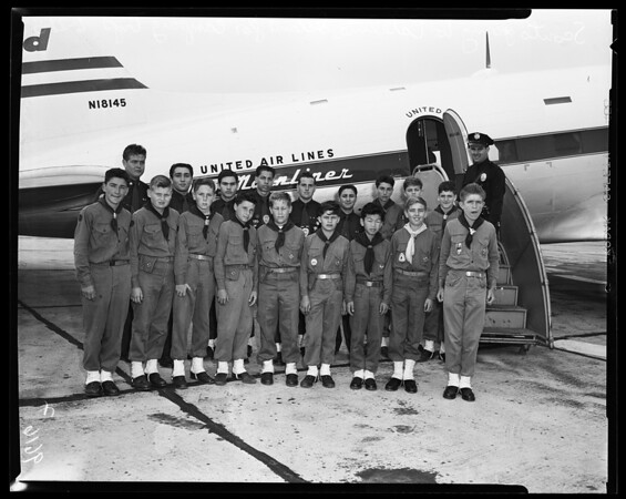 Scouts go to Catalina Island, 1954