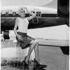 Paris show girl arrival, 1959
