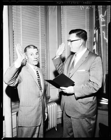 New municipal judge, 1958