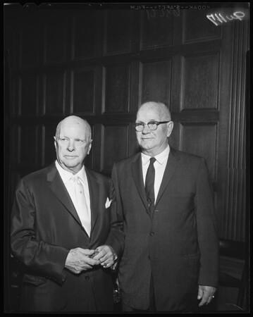 Testimonial dinner at Biltmore Bowl, 1960