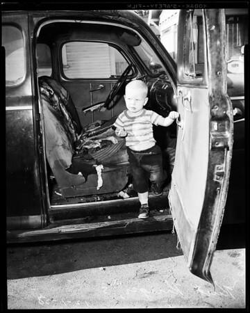 Boy rescued, 1958