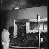 Fire at Jaybee Manufacturing Company on San Fernando Road near Dayton Avenue Bridge, 1959