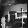 Fire at Jaybee Manufacturing Company on San Fernando Road near Dayton Avenue Bridge, 1959