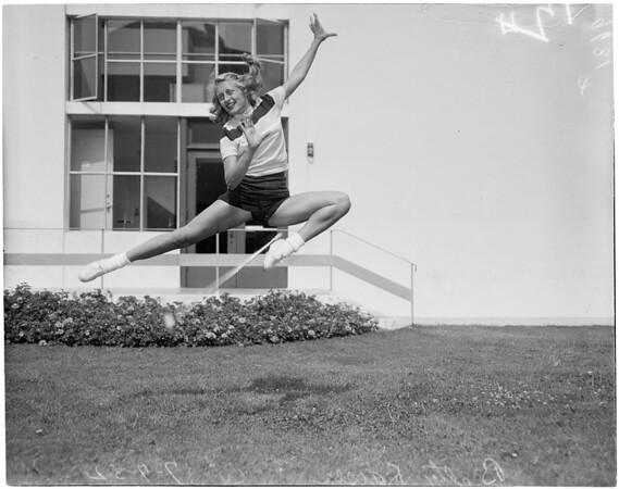Baton twirlers (Pepperdine College), 1952