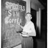 Market owner shoots at burglar suspects (8823 South Figueroa Street), 1952.