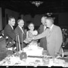 Testimonial dinner and birthday party, 1957