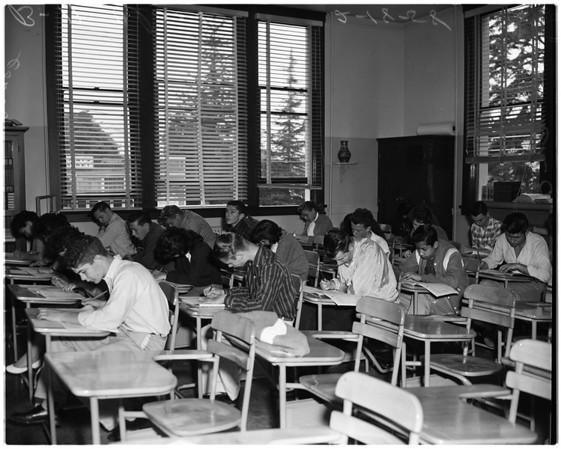 Iowa tests at Franklin High School, 1958