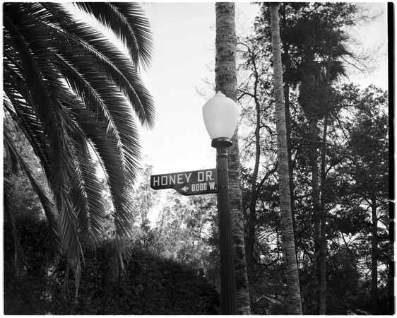 Street signs around Los Angeles, 1959