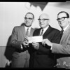 Check for $1,628,550 presented to Mayor, 1958