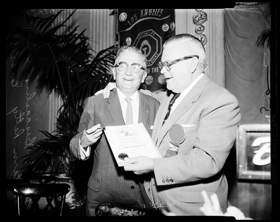 Life membership to Optimist International, 1958