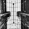 Interior view of skylight in Bradbury Building, 304 S. Broadway, downtown Los Angeles, 1961