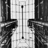 Interior view of skylight in Bradbury Building, 304 S. Broadway, downtown Los Angeles, 1961
