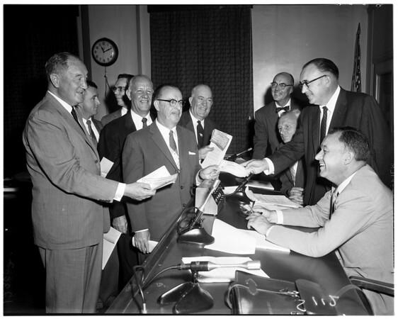 Tideland oil hearing, 1958