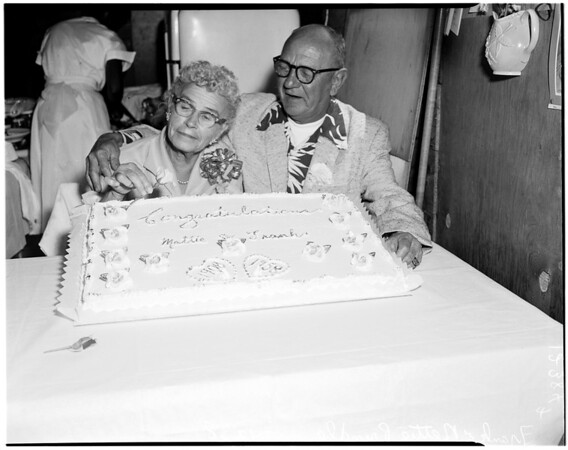 Golden wedding, 1958