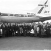 Football -- Wisconsin team arrival for Rose Bowl, 1959