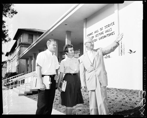 Dedication of new Occidental science Building, 1960