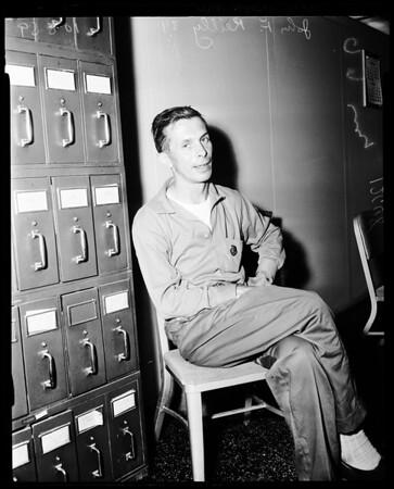 Bank bandit captured, 1959