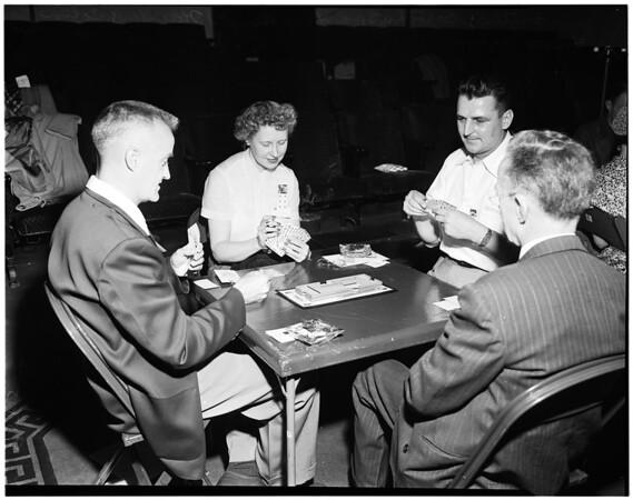 Bridge tournament (Elks Club, Los Angeles 99), 1952