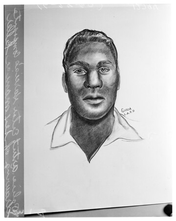 Drawing of sex maniac killer, 1960