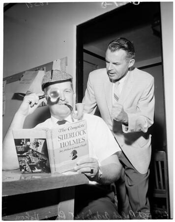 Sherlock Holmes Day (City Hall) birth of Sir Arthur Conan Doyle, 1959
