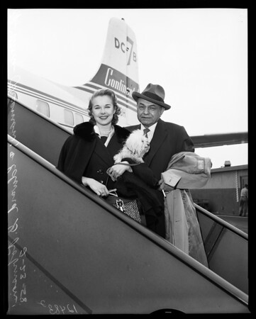 Airport arrival, 1958
