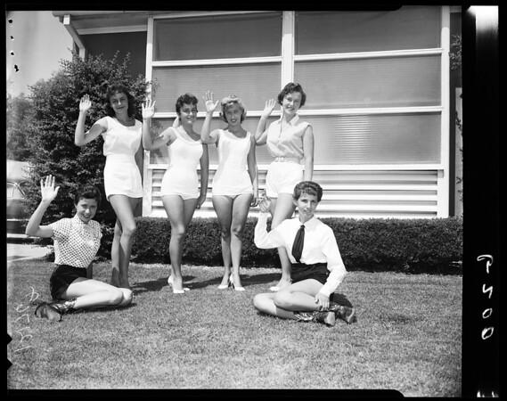 Northridge stamped Queen candidates, 1957