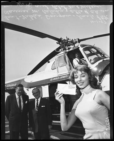 Helicopter air mail anniversary, 1957