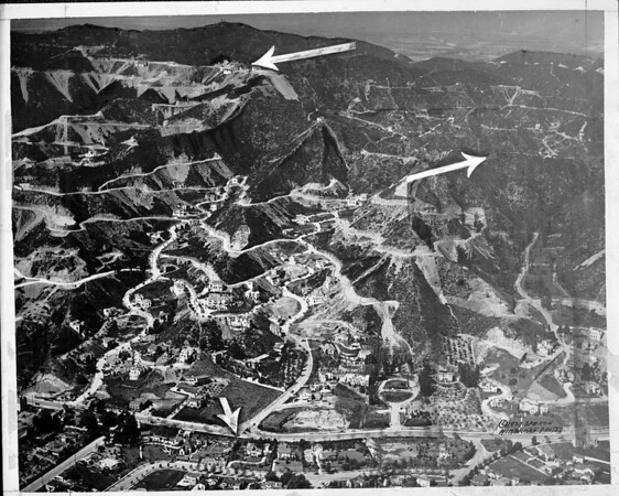 Aerial view of Lookout Mountain range