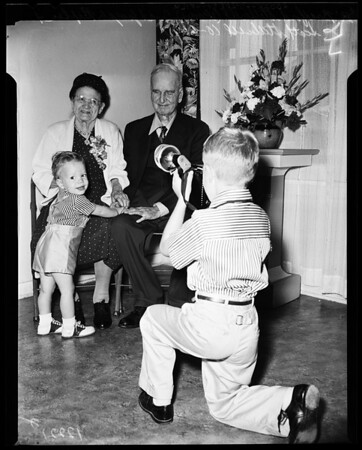 Blind and deaf wedding anniversary, 1957